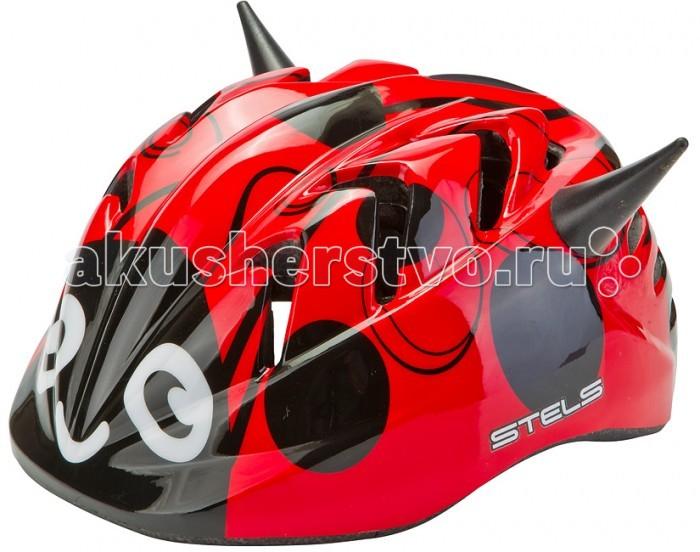 Детский транспорт , Шлемы и защита Stels Шлем детский защитный MV-7 Божья коровка out-mold арт: 596789 -  Шлемы и защита