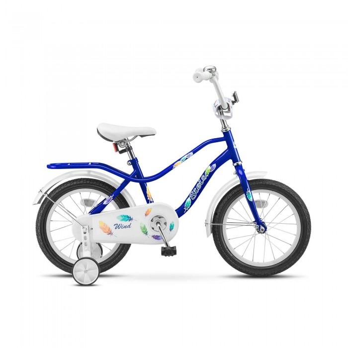 Велосипед двухколесный Stels Wind 16 (Z010)Двухколесные велосипеды<br>Велосипед двухколесный Stels Wind 16 (Z010) предназначенный для детей в возрасте от трех до шести лет. Подходит для обучения и легких прогулок.   Особенности: без переключения передач стальная рама жесткая вилка одинарные обода ножные педальные тормоза защита цепи стальные крылья мягкая накладка на руле съемные боковые колесики звонок диаметр колес: 16 дюймов.