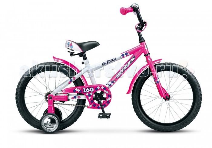 Велосипед двухколесный Stels Pilot 160 16 (2015)Pilot 160 16 (2015)Велосипед двухколесный Stels Pilot 160 16 (2015) предназначенный для детей в возрасте от 3 до 5 лет.   На велосипеде установлена прочная стальная рама, жесткая вилка, одинарные алюминиевые обода, ножные педальные тормоза, отличающиеся наибольшей простотой в использовании и надежностью, высокий руль с мягкими накладками, короткие стальные крылья и звонок входят в комплект.  Все детали велосипеда Стэлс Пилот 160 прошли тщательную проверку на безопасность и полностью отвечают европейским стандартам качества. Отлично подойдет для обучения и прогулок. Диаметр колес - 16 дюймов.  Комплектация 1-скоростной рама  STEEL (8.5) AL обода задний ножной тормоз короткие стальные крылья высокий руль с накладками звонок дополнительные колеса<br>