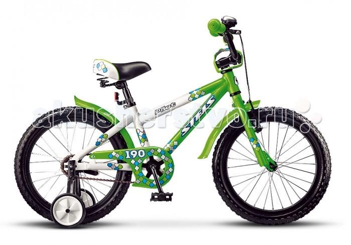 Велосипед двухколесный Stels Pilot 190 18 (2016)Pilot 190 18 (2016)Велосипед двухколесный Stels Pilot 190 18 (2016) для детей ростом от 110 до 125 см.  Материал рамы из облегченного алюминиевого сплава, амортизация отсутствует.  Комфортную посадку обеспечит удобное седло с пружинами и высокий руль который регулируется по углу наклона.  Установлены дополнительные боковые колесики, которые помогут научится держать равновесие.   Имеется две тормозные системы, задний - ножной педальный, передний - ручной V-типа. Для дополнительной безопасности на руле установлены мягкие накладки и звонок. Так же имеется щиток на цепи, который закрывает звездочку от попадания в неё одежды, а защиту от грязи и брызг воды обеспечат короткие крылья. Диаметр колес - 18 дюймов.  Комплектация 1-скоростной paмa AL (10) AL обода задний ножной тормоз передний тормоз PROMAX V-типа короткие стальные крылья звонок дополнительные колеса<br>