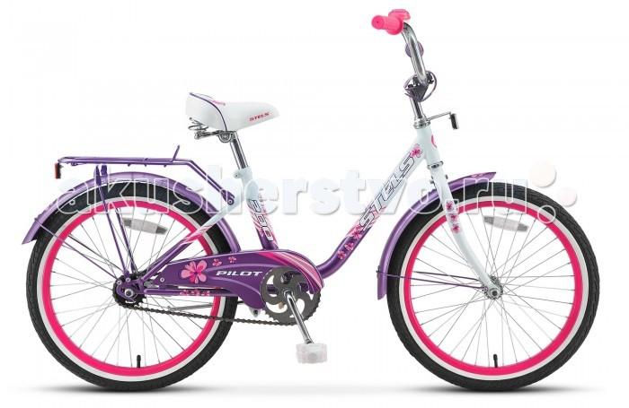 Велосипед двухколесный Stels Pilot 200 Lady (2017)Pilot 200 Lady (2017)Велосипед двухколесный Stels Pilot 200 Lady (2017) собран на качественной раме из прочной стали, оборудована стальной вилкой без амортизации, эргономичным седлом и регулируемым рулем.  Надежная тормозная система, задний - ножной педальный тормоз, передний - ободной V-типа.  Установлена защита цепи от попадания одежды в цепной механизм. Байк комплектуется защитными крыльями, подножкой и звонком. Модель Стелс Пилот 200 подойдет для прогулок по городским улицам и паркам. Диаметр колес - 20 дюймов.  Комплектация: 1-скоростной рама  STEEL (12) двойные AL обода задний ножной тормоз передний тормоз V-типа стальные крылья звонок<br>