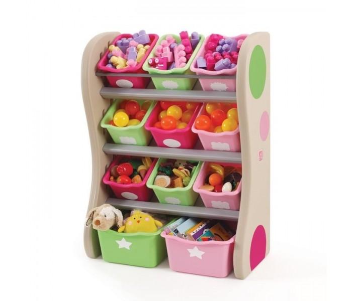 Step 2 Центр хранения игрушекЦентр хранения игрушекИдеально вписывается в интерьер комнаты Вашего ребенка и поможет содержать порядок. Удобные ящики двух размеров позволят хранить игрушки, книги, раскраски, и многое другое, по боковым сторонам расположены доски с тканевыми мешочками. Прочная конструкция из объемного пластика прослужит долгие годы, поверхность легко протирается!  Характеристики: изготовлен из высококачественной, экологически чистой, современной пластмассы, предназначенной для производства предметов детской группы прочная и устойчивая конструкция товар соответствует всем нормам: как санитарным, так и гигиеническим можно хранить игрушки, книги, раскраски, и многое другое доски по боковым сторонам с тканевыми мешочками ящики двух размеров оригинальный, яркий дизайн, идеально впишется в интерьер комнаты легко чистится и моется  В комплекте: 11 контейнеров стойка  Размеры (вхдхш) 92х77x47 см Вес 6 кг<br>