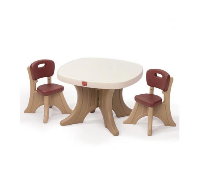 Step 2 Детский столик со стульямиДетский столик со стульямиЗа столом можно и пообедать с друзьями и поиграть в разные игры. Столик станет отличным подарком для ребенка любого возраста. Как малыши, так и подростки придумают для себя интересные игры. А пока дети играют, родители могут спокойно заняться своими делами.  Характеристики: изготовлена из высококачественного прочного пластика подходит для детей от 2 лет стильный дизайн и оригинальные цветовые решения товар сертифицирован уникальный Х дизайн ножек делает стульчики более устойчивыми прекрасно подходит для обедов, игр и других забав на улице большая столешница (76.2 х 76.2 см.) для комфортной игры двух или трех детей 4 широкие ножки может использоваться как на улице, так и в помещении максимальная нагрузка на стул 34 кг комплект легко моется прочная конструкция прослужит вашим детям долгие годы   В комплекте: стол 2 стула    Размеры(дхшхв) 76.2x76.2x51 см Вес 11 кг<br>