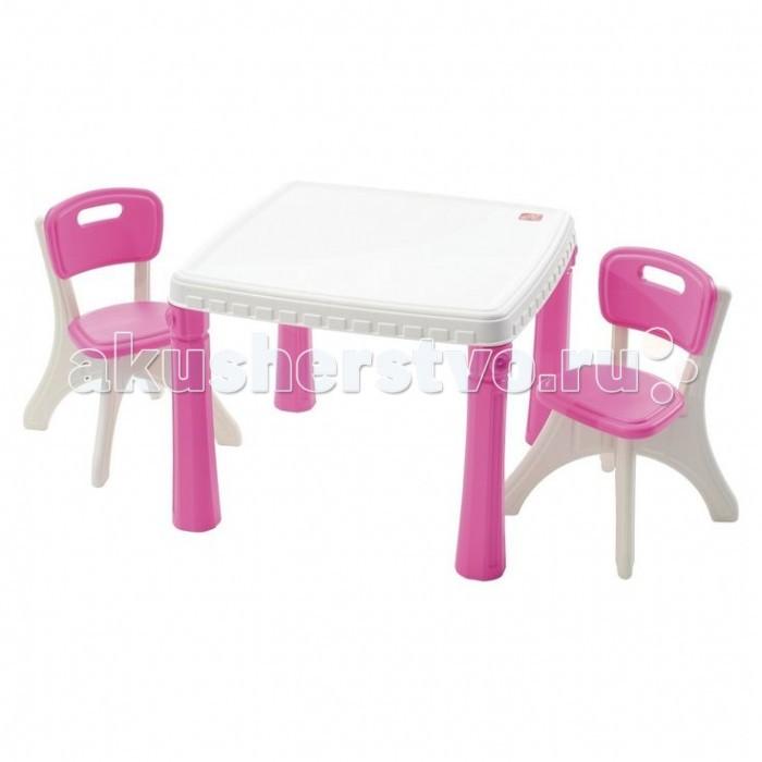 Step 2 Кухонный столик со стульямиКухонный столик со стульямиЭтот универсальный комплект стола со стульями предназначен для кухонь Step2. За столом можно и пообедать с друзьями и поиграть в разные игры. Столик станет отличным подарком для ребенка любого возраста. Как малыши, так и подростки придумают для себя интересные игры. А пока дети играют, родители могут спокойно заняться своими делами.  Характеристики: изготовлена из высококачественного прочного пластика подходит для детей от 2 лет стильный дизайн и оригинальные цветовые решения товар сертифицирован уникальный Х дизайн ножек делает стульчики более устойчивыми прекрасно подходит для обедов, игр и других забав на улице большая столешница (63.5 х 63.5 см.) для комфортной игры двух или трех детей 4 широкие ножки может использоваться как на улице, так и в помещении максимальная нагрузка на стул 34 кг комплект легко моется прочная конструкция прослужит вашим детям долгие годы   В комплекте: стол 2 стула    Размеры(дхшхв) 63.5x63.5x48.3 см Вес 5 кг<br>
