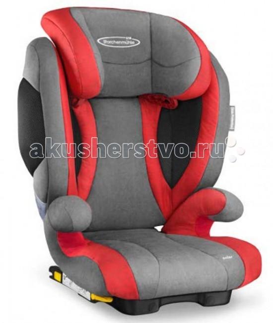 Автокресло STM Solar 2 SeatfixSolar 2 SeatfixSTM Solar 2 SeatFix - комфортное автокресло для детей от 3 до 12 лет (от 15 до 36 килограмм). Отличием от предыдущей модели является улучшенная боковая защита. Дополнительная обивка на сиденье в виде раковины. Крепится в автомобиле с помощью специального крепления к скобам Isofix, ребенок же крепится штатным ремнем безопасности, проходящем через направляющие в кресле.   STM Solar 2 SeatFix оснащен дополнительной боковой защитой - мягкими вставками с внешней стороны боковин кресла, которые сокращают расстояние до двери автомобиля, уменьшая тем самым амплитуду удара и поглощая при ударе его энергию.  Cпинку кресла можно слегка отклонять, чтобы во время сна голова ребёнка не западала вперёд. В боковинах спинки предусмотрены вентиляционные отверстия, которые обеспечивают дополнительную циркуляцию воздуха.   Особенности: крепление: ребёнок вместе с креслом крепится ремнем безопасности автомобиля, при этом есть дополнительное крепление к скобам isofix. Таким образом, кресло можно использовать в автомобилях как с системой isofix, так и без неё направление установки: по ходу движения автомобиля безопасность: кресла соответствует Европейскому стандарту ЕСЕ R44/04. В независимых краш-тестах ADAC (Германия), Stiftung Warentest (Германия), ANWB (Голландия) в 2012 году получило высокую оценку «Gut» ребёнок в кресле фиксируется штатным автомобильным ремнём, который одновременно держит и кресло, и ребёнка ремень безопасности проходит через специальную направляющую в подголовнике и ложится на плечо, а не на шею крепления Isofix дополнительно фиксируют кресло на ходовой части автомобиля для большей устойчивости в поворотах индикаторы, подтверждающие закрепление фиксаторов Isofix коннекторы Isofix имеют выдвижную конструкцию для простоты хранения спинка принимает положение по углу наклона сидения автомобиля спинка кресла слегка откидывается в положение для отдыха на ход движения Isofix дополнительные мягкие подушки в боковинах с внешней ст