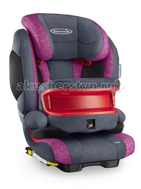 Автокресло STM Solar IS SeatfixГруппа 1-2-3 (от 9 до 36 кг)<br>STM Solar IS SeatFix - комфортное автокресло для детей от 9 мес. до 12 лет (от 9 до 36 килограмм) снабжено столиком безопасности для детей группы 1 (от 9 кг.) Использование столика безопасности позволяет отказаться от использования внутренних ремней автокресла. Ребенок до 3-4 лет фиксируется в автокресле при помощи столика безопасности и встроенного штатного ремня автомобиля, благодаря такому варианту установки снижается нагрузка на шейный отдел позвоночника ребенка при фронтальном ударе.   STM Solar SeatFix оснащен дополнительной боковой защитой - мягкими вставками с внешней стороны боковин кресла, которые сокращают расстояние до двери автомобиля, уменьшая тем самым амплитуду удара и поглощая при ударе его энергию.  Cпинку кресла можно слегка отклонять, чтобы во время сна голова ребёнка не западала вперёд. В боковинах спинки предусмотрены вентиляционные отверстия, которые обеспечивают дополнительную циркуляцию воздуха.   Произведено в Германии  Особенности: крепление: ребёнок вместе с креслом крепится ремнем безопасности автомобиля, при этом есть дополнительное крепление к скобам isofix. Таким образом, кресло можно использовать в автомобилях как с системой isofix, так и без неё направление установки: по ходу движения автомобиля безопасность: кресла соответствует Европейскому стандарту ЕСЕ R44/04. В независимых краш-тестах ADAC (Германия), Stiftung Warentest (Германия), ANWB (Голландия) в 2012 году получило высокую оценку «Gut» ребёнок в кресле фиксируется штатным автомобильным ремнём, который одновременно держит и кресло, и ребёнка ремень безопасности проходит через специальную направляющую в подголовнике и ложится на плечо, а не на шею крепления Isofix дополнительно фиксируют кресло на ходовой части автомобиля для большей устойчивости в поворотах индикаторы, подтверждающие закрепление фиксаторов Isofix коннекторы Isofix имеют выдвижную конструкцию для простоты хранения спинка принимает положение по угл