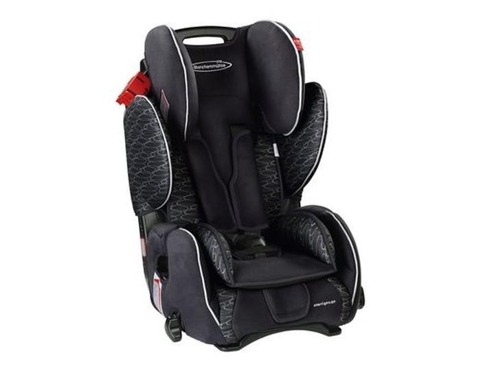 Автокресло STM Starlight SPStarlight SPМаксимальная защита и высокий комфорт для детей от 9 мес. до 12 лет (от 9 до 36 кг), возрастные группы I-III.   Автомобильное кресло STM Starlight SP может удерживать ребенка как при помощи 5-ти точечных ремней безопасности (используются для детей от 9 месяцев до 4-х лет), так и при помощи штатного 3-точечного ремня безопасности автомобиля. Регулируемый подголовник и развитая боковая поддержка со вставками из энергопоглощающего материала защищают ребенка от бокового удара и превосходно удерживают в поворотах.   Ремни безопасности автоматически регулируются по высоте при изменении наклона спинки. С помощью удобной ручки одним движением кресло переводится в положение комфортного отдыха, надежно фиксируясь в данном положении.   Особенности:  автокресло STM Starlight SP может удерживать ребенка как при помощи 5-ти точечных ремней безопасности, так и при помощи штатного 3-точечного ремня безопасности автомобиля  регулируемый подголовник и развитая боковая поддержка со вставками из  энергопоглощающего материала защищают ребенка от бокового удара и превосходно удерживают в поворотах  ремни безопасности кресла автоматически регулируются по высоте при изменении наклона спинки кресла  с помощью удобной ручки одним движением кресло переводится в положение «комфортного» отдыха, надежно фиксируясь в данном положении  практичная ручка для переноски  соответствует требованиям ECE-R44/04.   Коллекция Lifestyle (цвета graphite-grey, blue, clay-orange) основана на идее повседневного использования автомобильного кресла. Lifestyle - это спортивная элегантность и классические, неустаревающие расцветки. Обивка Lifestyle мягче на ощупь и предпочтительнее для прямого контакта с креслом кожи ребенка.   Коллекция Freestyle (цвета dynamic-red, froggi-king, fairy-rose) - это сочетание моды и функциональности до самых мельчайщих деталей. Навеяна последними модными тенденциями. Дышащие, высокотехнологичные материалы обеспечивают комфорт для Вашего ребенка н