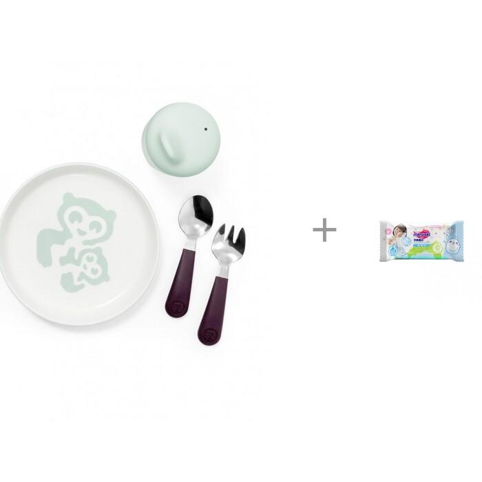 Купить Посуда, Stokke посуда первой необходимости Munch Essentials и влажные салфетки L 20 шт. Manuoki