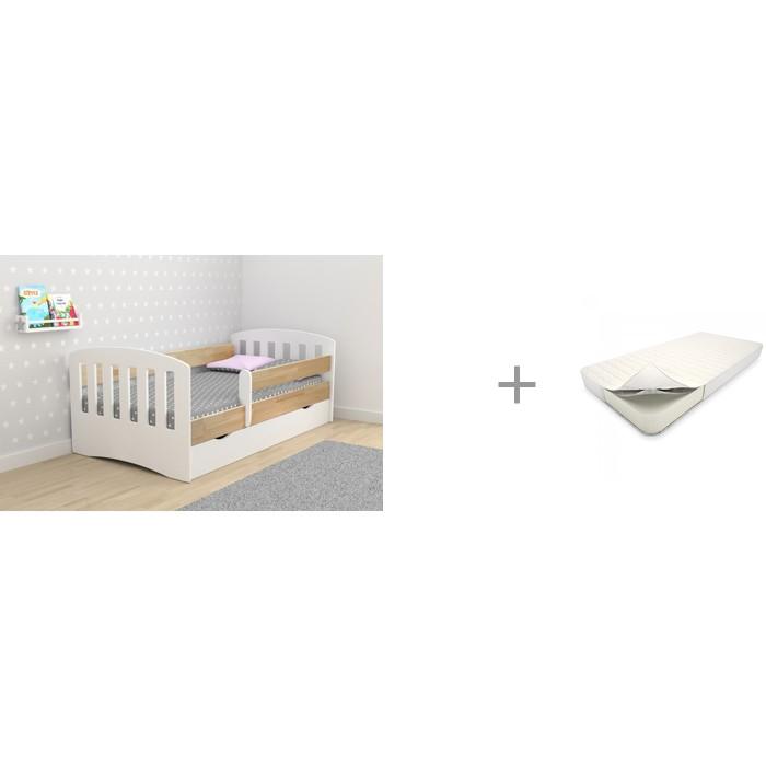 Купить Кровати для подростков, Подростковая кровать Столики Детям Классика-Микс 80х160 см и Матрас Askona Baby Flex Dream 160х80 см