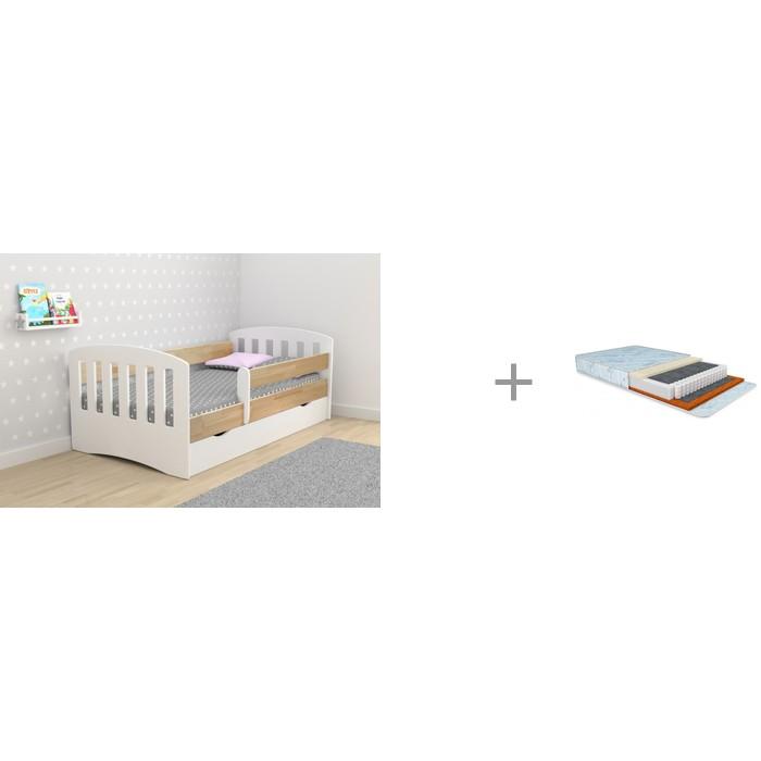 Кровати для подростков Столики Детям Классика-Микс 80х160 см и Матрас Nuovita Lago 160х80