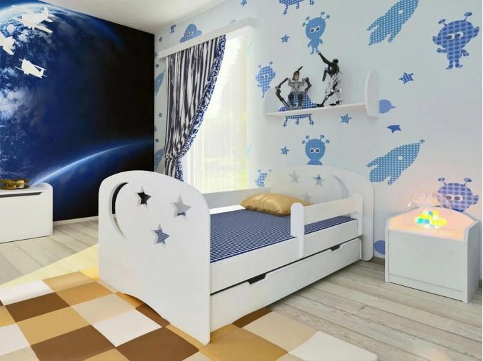 Кровати для подростков Столики Детям с бортиком Ночь 160х80 см
