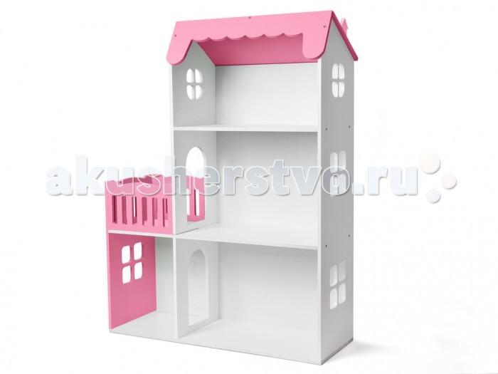 Кукольные домики и мебель Столики Детям Кукольный домик трехэтажный с балконом