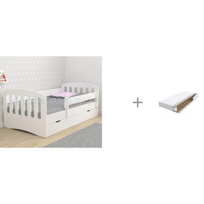 Купить Кровати для подростков, Подростковая кровать Столики Детям с бортиком Классика 80х160 см и Матрас Askona Baby Flex Play 160х80 см
