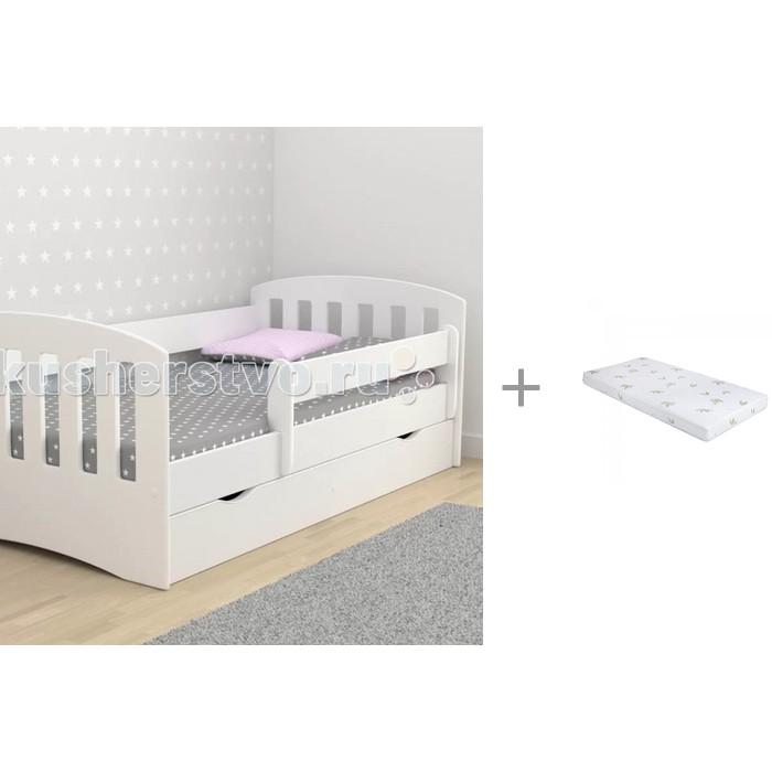 Кровати для подростков Столики Детям с бортиком Классика 80х160 см и Матрас Incanto UOMO CHC 160x80x12 см кровати для подростков столики детям с бортиком стиль 160х80 см