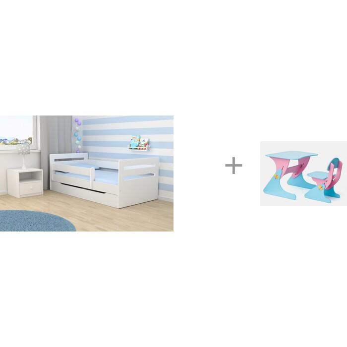 Кровати для подростков Столики Детям с бортиком Мода и столик со стульчиком Буслик