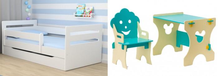 Кровати для подростков Столики Детям с бортиком Мода и столик со стульчиком Гном туалетные столики