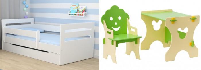 Кровати для подростков Столики Детям с бортиком Мода и столик со стульчиком Гном кровати для подростков столики детям с бортиком стиль 160х80 см