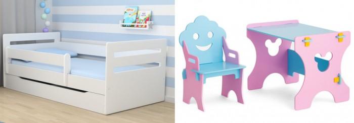Кровати для подростков Столики Детям с бортиком Мода и столик со стульчиком Гном