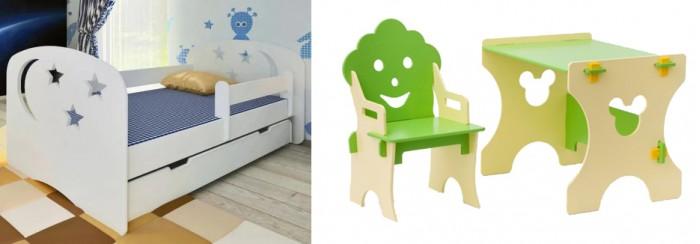 Кровати для подростков Столики Детям с бортиком Ночь и столик со стульчиком Гном кровати для подростков столики детям с бортиком стиль 160х80 см