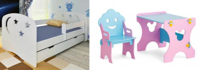 Кровати для подростков Столики Детям с бортиком Ночь и столик со стульчиком Гном