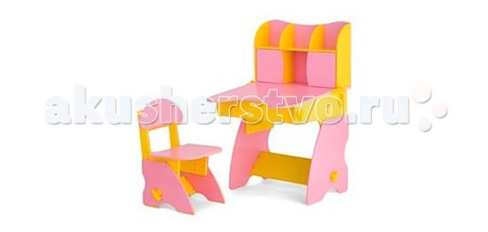 Столики Детям Комплект столика с дверцами со стульчиком Фантазер