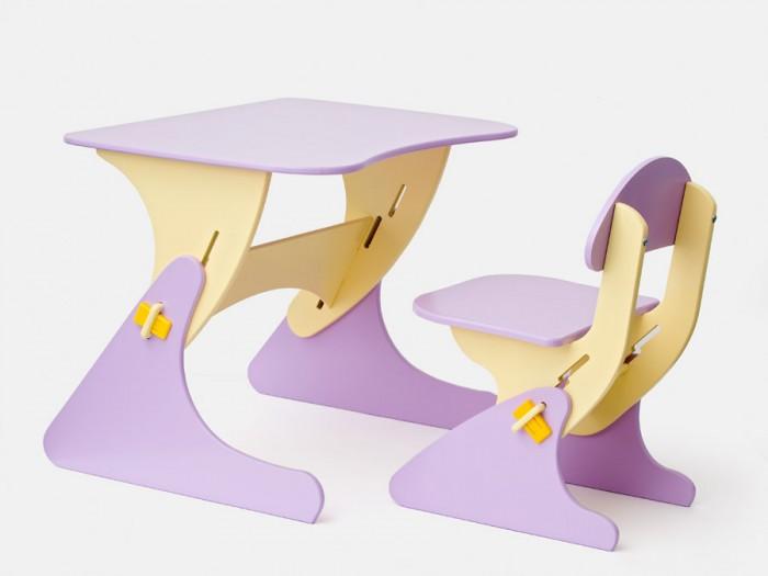 Столики Детям Комплект столика со стульчиком БусликКомплект столика со стульчиком БусликКомплект столика со стульчиком Буслик.  Детский регулируемый столик со стульчиком отлично подойдет детям для творческих занятий.   Регулировка под рост ребенка позволит использовать комплект в течение нескольких лет.   Подходит детям в возрасте от 1,5-до 8 лет.   Экологические материалы: МДФ, краска на водной основе.  Размеры стол:  столешница - 67 х 50 см. Высота регулируется от 40 до 58 см. 4 положения  Размеры стул:   сиденье - 35 х 35 см. Высота регулируется от 22 до 34 см. 4 положения  Габариты упаковки: 70 x 50 x 10 см  Масса с упаковкой: 10 кг<br>
