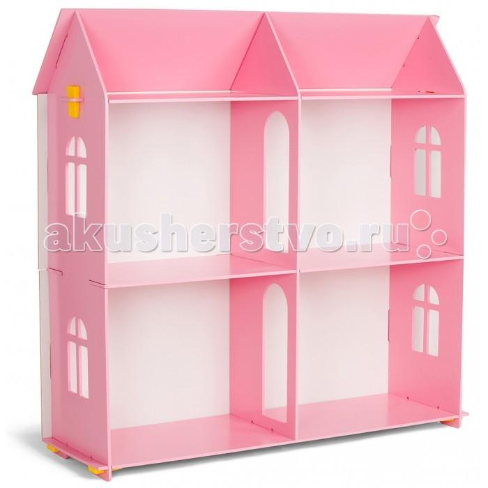 Столики Детям Кукольный домик МДФКукольный домик МДФБольшой кукольный домик понравиться обязательно любой девочке. В домике четыре комнаты, крыша, красивые окошки, а также дверные проёмы в форме арки между комнатами. Домик прекрасно подойдет по размеру для кукол Барби.  Домик выполнен из МДФ. Экологически чистого и безвредного материала, окрашен безвердной краской на водной основе.  Размеры домика для кукол: Ширина - 90 см Высота - 88 см Глубина 27 см<br>