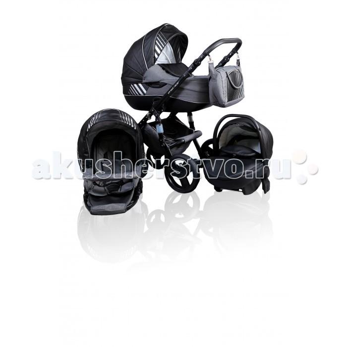 Коляска Street Racer Niki 3 в 1Niki 3 в 1Коляска Street Racer Niki 3 в 1 незаменима на прогулках с малышом от рождения и до 3 лет.   Вам обязательно понравится эта модель, обивка которой выполнена из элегантной и практичной эко-кожи  в сочетании с водоотталкивающей тканью. В базовую комплектацию входят не только модульные блоки, но и аксессуары для мамы и ребенка.  Комплектация: четырехколесное шасси люлька реверсивный прогулочный блок накидки на ножки москитная сетка дождевик сумка рукавички корзина для покупок подстаканник Шасси компактно складывается по типу книжка передние колеса плавающие: коляска проезжает по узким дорожкам, преодолевая повороты на передних колесах есть фиксаторы задние колеса увеличенного диаметра амортизаторы пружинного типа с регулируемой жесткостью на раме есть два дополнительных пружинных амортизатора тормоз ножной, задний колеса резиновые, мягко едут по асфальту и гравию ручка регулируется по высоте для комфорта ручка обшита эко-кожей на ручку можно повесить сумку, которая входит в комплект внизу шасси расположена корзина для покупок, которая закрывается на молнию Люлька устанавливается лицом к маме люлька каркасная, жесткая дно ровное, подголовник регулируется по высоте внутренний съемный чехол сделан из хлопка в комплект входит матрасик капор максимально закрывает ребенка от солнца и осадков в капюшоне предусмотрен большой козырек от солнца в комплект  входит чехол на ножки в ветреную погоду у чехла поднимается бортик, который можно пристегнуть к солнцезащитному козырьку, закрыв ребенка полностью Прогулочный блок устанавливается в обоих направлениях оборудован пятиточечными ремнями безопасности  для комфортных прогулок предусмотрен съемный мягкий матрасик под спинку малыша спинка раскладывается капор складывается в нескольких положениях капюшон сделан из водоотталкивающей ткани в комплект входит бампер, к которому крепится паховая перемычка накидка на ножки крепится при помощи кнопок Автокресло относится к группе 0+ оборудовано трехточ