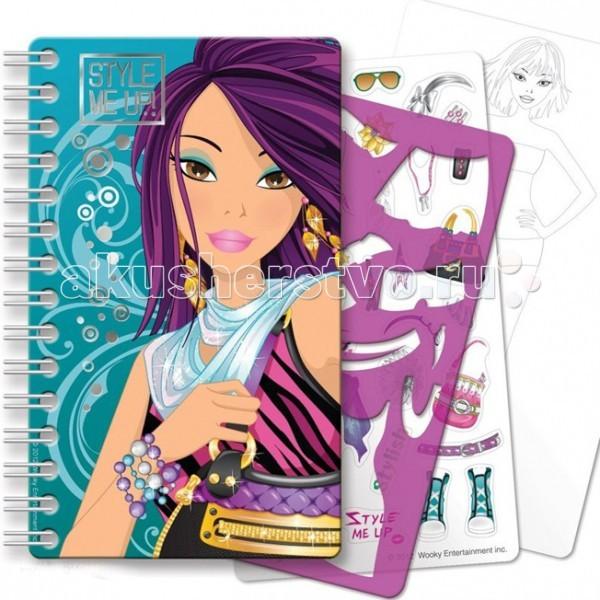 Наборы для творчества Wooky Style Me Up Блокнот с трафаретами наборы для творчества wooky style me up блокнот с карандашами супер звезда