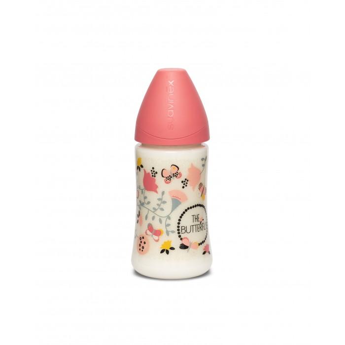 Купить Бутылочки, Бутылочка Suavinex Butterfly с силиконовой круглой соской с 0 мес. 270 мл