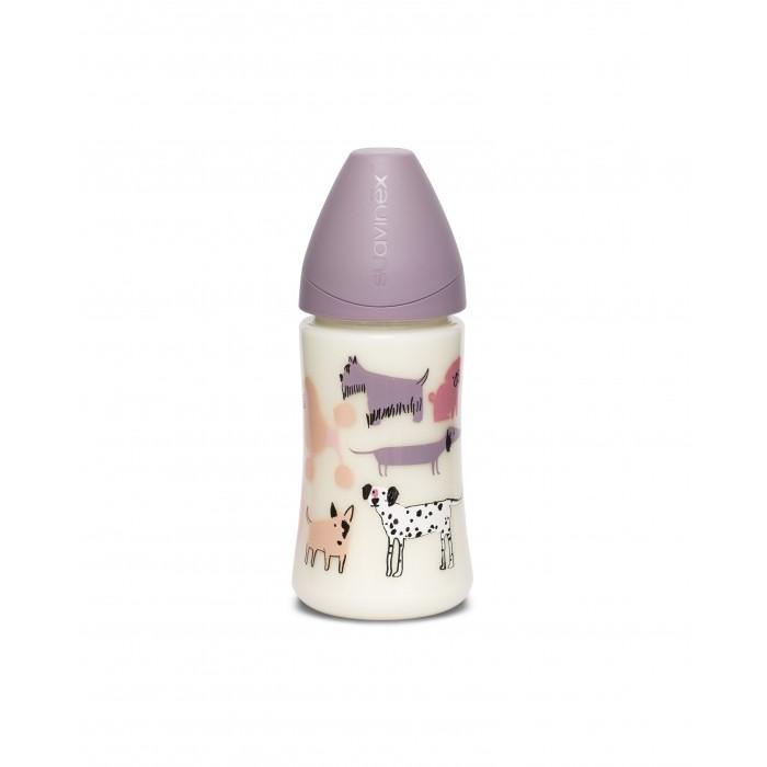 Купить Бутылочки, Бутылочка Suavinex Dog с силиконовой круглой соской с 0 мес. 270 мл