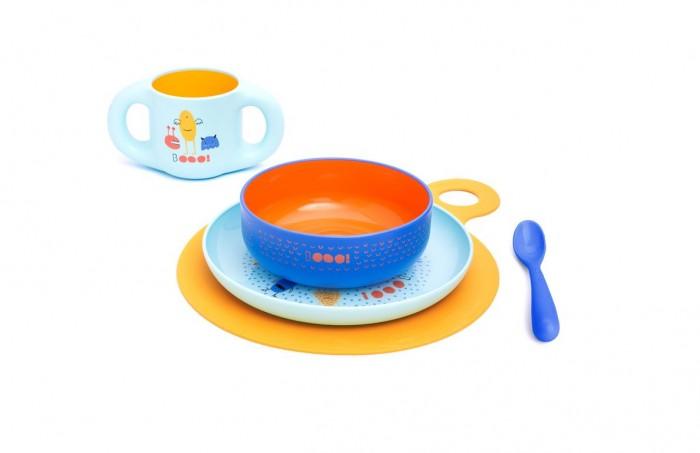 Suavinex Набор посуды Bооо (5 предметов) от 6 мес.Набор посуды Bооо (5 предметов) от 6 мес.Suavinex Набор посуды Bооо (5 предметов) от 6 мес. - это практичный и красочный набор посуды. Предназначен для обучения самостоятельного приема пищи ребенком. Удобные формы для маленьких ручек. Красочные расцветки и картинки порадуют Вашего малыша.   Материал не содержит бисфенол А.  В наборе: 2 тарелки  ложка  чашка<br>