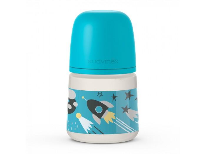 Фото - Бутылочки Suavinex с мягкой физиологической соской Space 150 мл бутылочки suavinex с мягкой физиологической соской space 360 мл