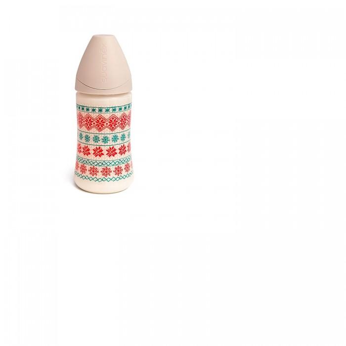 Купить Бутылочки, Бутылочка Suavinex Winter collection Снежинки с силиконовой соской с 0 до 6 мес. 270 мл