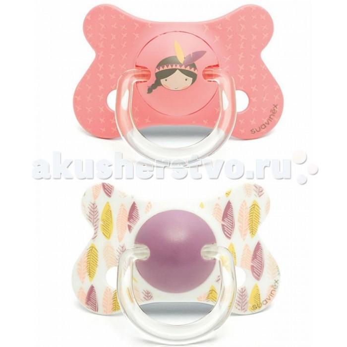 Пустышки Suavinex анатомическая силикон 18+ мес. 2 шт. bibi happiness natural силикон голубая 0 2 мес