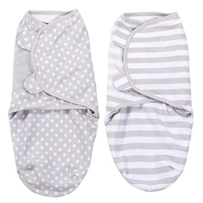 Пеленки Summer Infant Swaddleme Конверт для пеленания на липучке 2 шт конверт summer infant хлопковый спальный мешок swaddleme wiggle blanket pink розовый размер s m