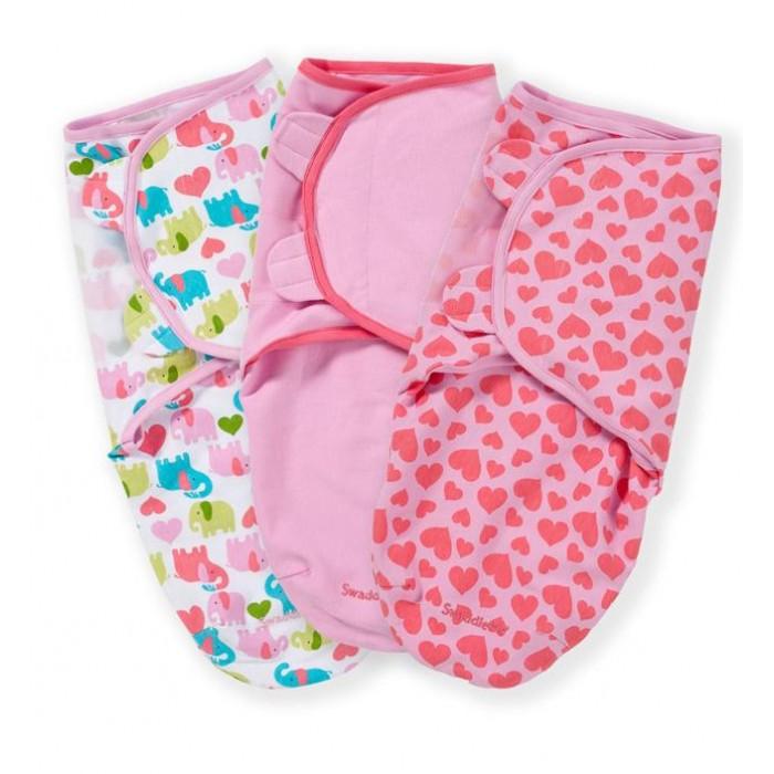 Пеленки Summer Infant Swaddleme Конверт для пеленания на липучке 3 шт конверт summer infant хлопковый спальный мешок swaddleme wiggle blanket pink розовый размер s m