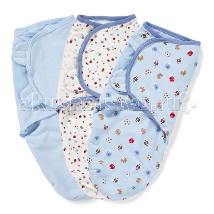 Пеленка Summer Infant Swaddleme Конверт для пеленания на липучке (р-р S/M) 3 шт