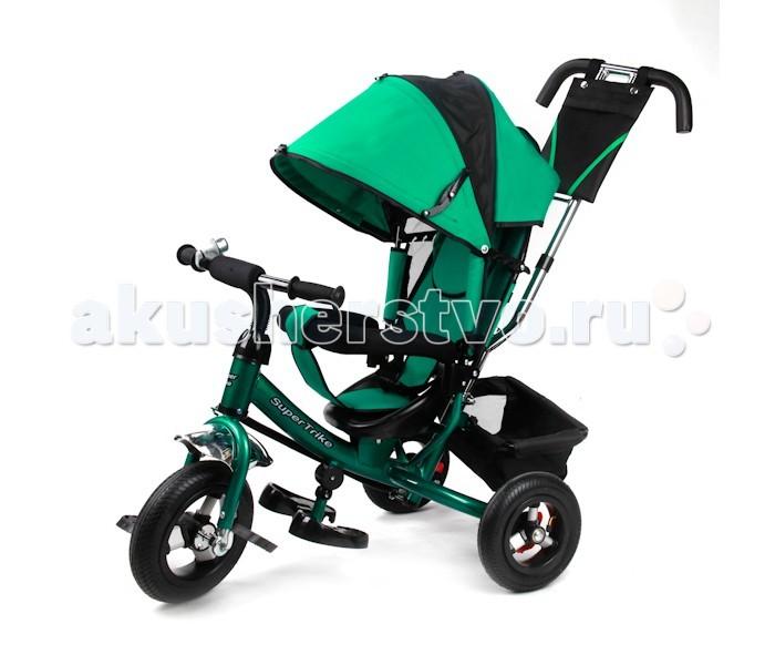 Велосипед трехколесный Super Trike ST152-1210ST152-1210Велосипед трехколесный Super Trike ST152-1210 гарантирует Вашему малышу комфортные прогулки. Удобная ручка позволит родителю легко взять на себя управление трехколесным транспортом. Когда ребенок сможет управлять рулем и дотягиваться до педалей, родительскую ручку можно будет снять. Колеса транспорта выполнены из высокопрочного пластика. Также на транспорте предусмотрена подножка, которую можно складывать. Над спинкой сиденья есть небольшой кошелечек для небольших принадлежностей. Управление производится благодаря подвижному переднему колесу.<br>