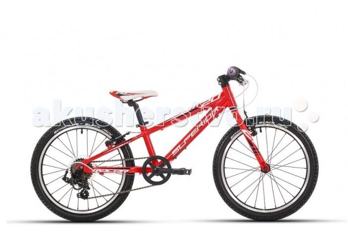 Велосипед двухколесный Superior XC 20 RacerXC 20 RacerВелосипед двухколесный Superior XC 20 Racer очень легкий и комфортный для ребенка от 6 лет и ростом от 110 см.  Особенности: высококлассное оборудование Shimano обеспечивает легкое уверенное катание и отличные эксплуатационные характеристики.  компоненты велосипеда тщательно подобраны с учетом детской анатомии. прочная алюминиевая рама и цепкие покрышки Schwlbe Black Jack позволят гонщику уверенно и безопасно преодолевать даже крутые спуски.  европейское качество гарантирует долгий срок службы велосипеда и непременное удовольствие во время поездок. Рама: Алюминий 6061.T6 вилка: RST Alloy superlight rigid, жесткая без амортизации рулевая колонка: Aheadset 1/8 Steel semi-cartridge руль: ATB steel, riser-type 540 мм вынос: ZOOM MTB 60 мм, Alloy Ahead подседельный штырь: HL CorpAlloy 27.2 мм/300 мм седло: Velo Sport Junior педали: Marwi SP-202 тормоза: Tektro 855 Alloy V-brake кассета: Shimano MF-TZ06-6 14-28 цепь: KMC Z50 система/шатуны: Pprowheel steel w/alloy cranks 40T w/single guard, Square type 140 мм каретка: Thun Jive Square system обода: Weinmann ZAC 2000 втулки: ONE KT Freewheel type QR спицы: Sapim galvanized покрышки: Schwalbe Black Jack 20x1.90 дополнительно: 6 скоростных режимов, вес 9,8 кг. рама 11 шифтеры/манетки: Shimano SL-RS35-6 Revoshift задний переключатель: Shimano RD-TX35D тормозные ручки: Saccon Junior<br>