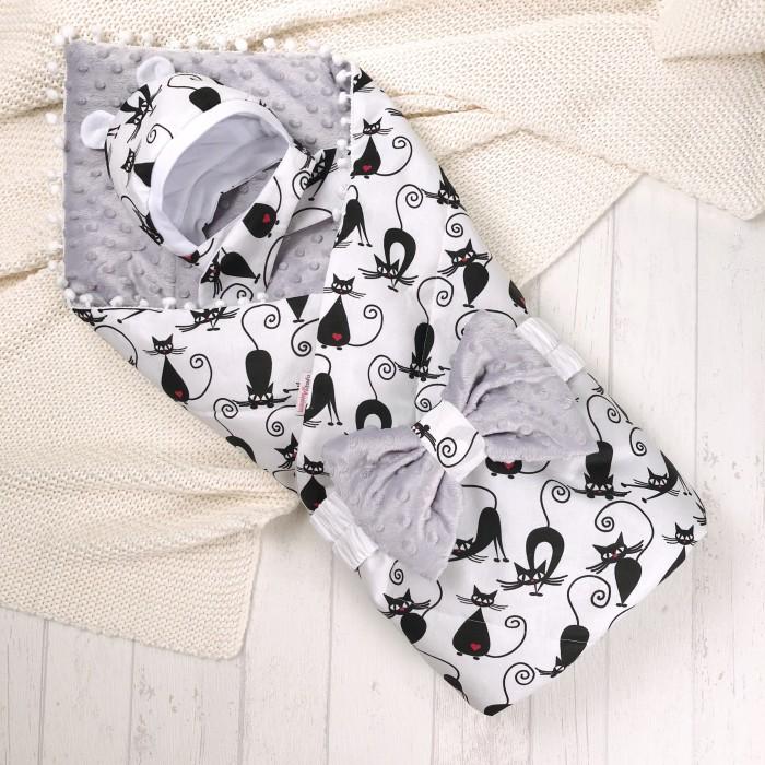 Купить Конверты на выписку, СуперМаМкет Конверт-одеяло Кошечки (демисезон)