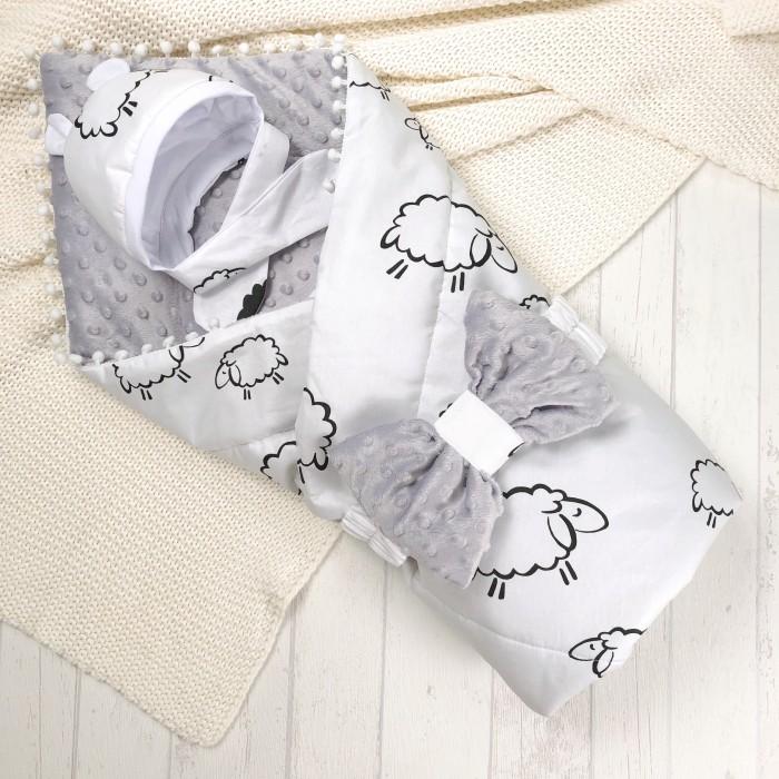 Купить Конверты на выписку, СуперМаМкет Конверт-одеяло Овечки (демисезон)