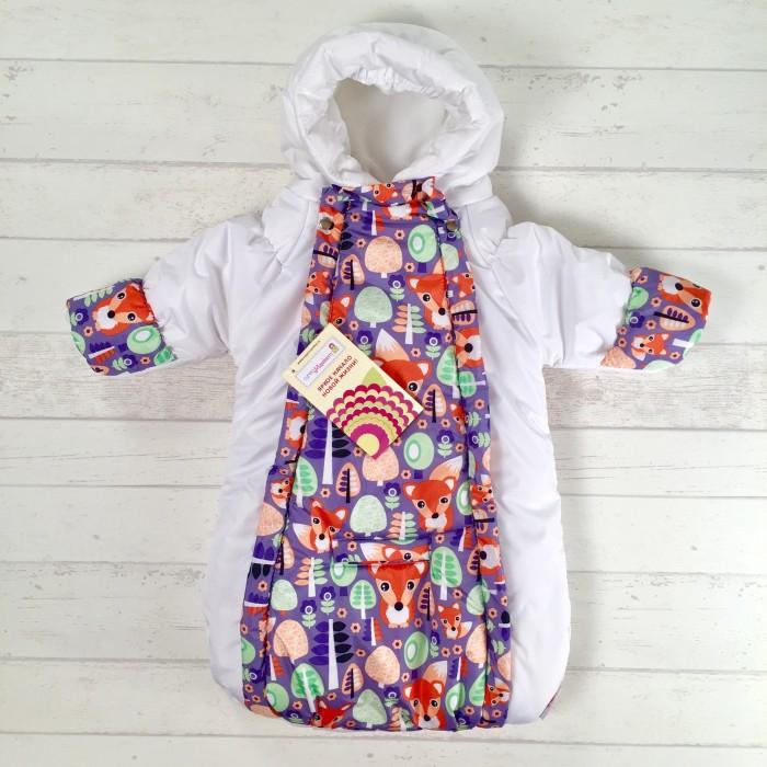 Купить Конверты для новорожденных, СуперМаМкет Конверт-комбинезон с ручками Лисята на флисе