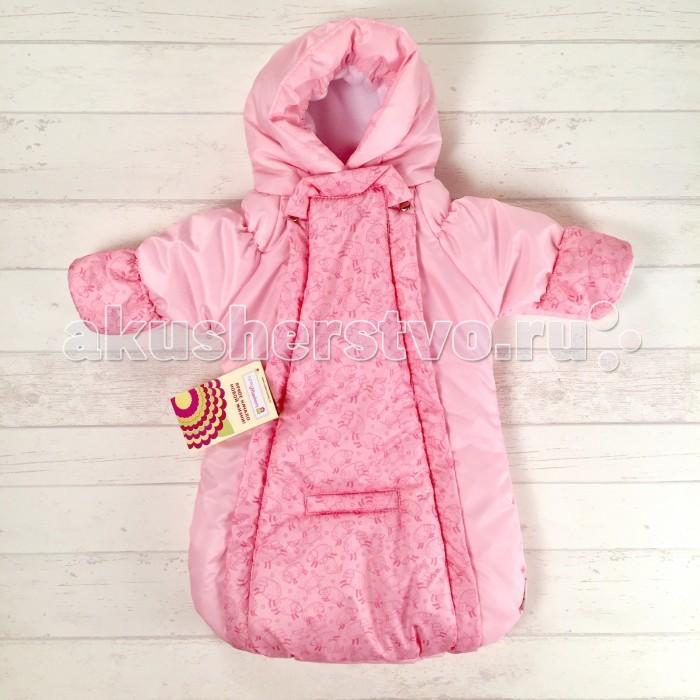 Купить Конверты для новорожденных, СуперМаМкет Конверт-комбинезон с ручками Розовые овечки на флисе