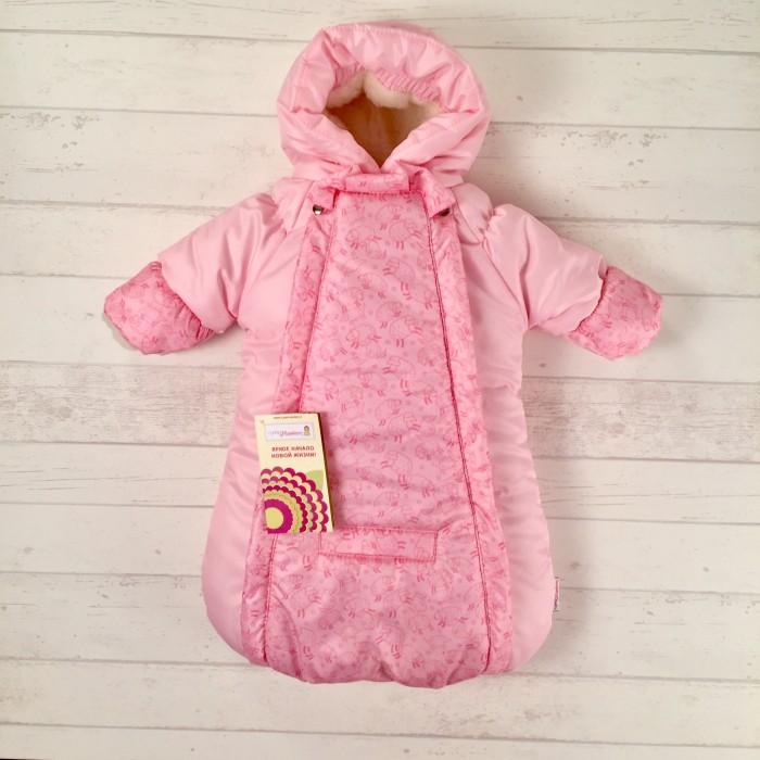 Купить Конверты для новорожденных, СуперМаМкет Конверт-комбинезон с ручками Розовые овечки на овчине