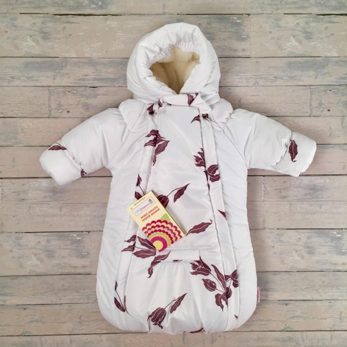 Купить Конверты для новорожденных, СуперМаМкет Конверт-комбинезон с ручками Тюльпаны на овчине