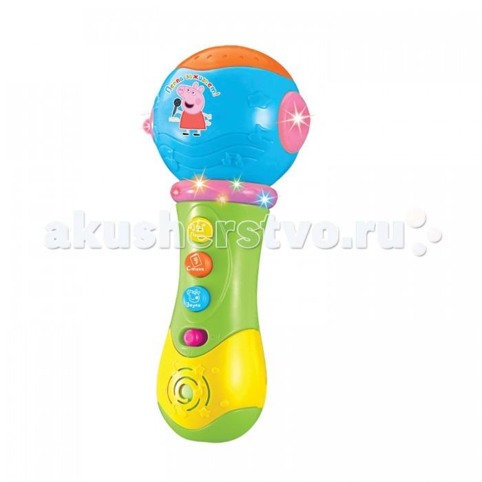 Музыкальные игрушки Свинка Пеппа (Peppa Pig) Микрофон с проектором какой микрофон ребенку для начала