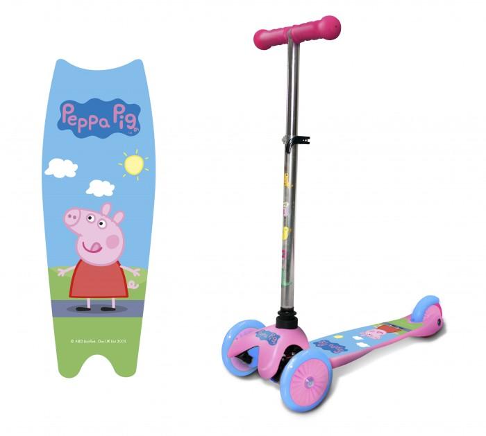 Купить Трехколесные самокаты, Трехколесный самокат Свинка Пеппа (Peppa Pig) регулируемый руль Т11698