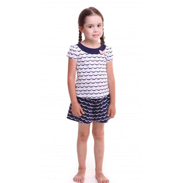 футболки и топы свiтанак джемпер д800687 Домашняя одежда Свiтанак Комплект (футболка и юбка-шорты) для девочки Р608693