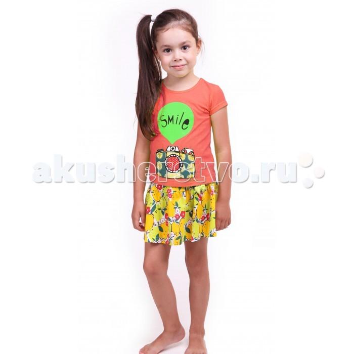 Комплекты детской одежды Свiтанак Комплект (футболка и юбка) для девочки Р608735